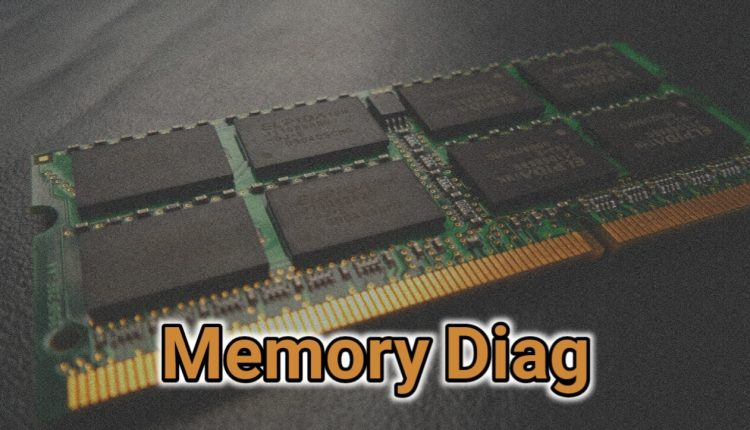 Memory Diag tool to speed up your computer and RAM