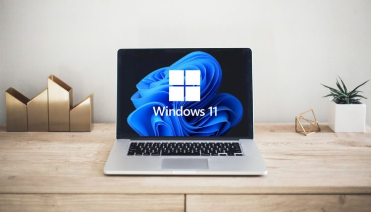 The first new computer that supports Windows 11 is similar to a MacBook