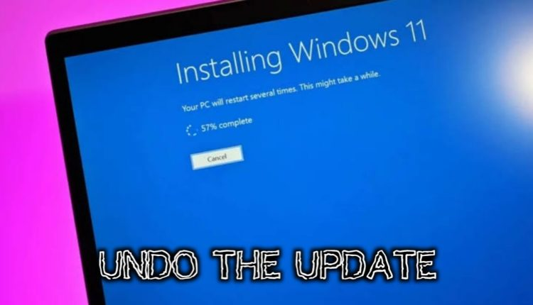 10 days to go back to Windows 10 after installing unofficial Windows 11